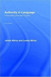 Authority in language by James Milroy
