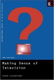 Making Sense of Television by Sonia M. Livingstone