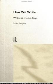 How We Write by Sharples, Mike