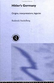Hitler&#39;s Germany by Roderick Stackelberg
