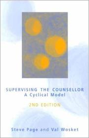 Supervising the counsellor by Page, Steve
