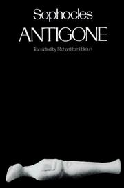 Cover of: Antigone by Sophocles