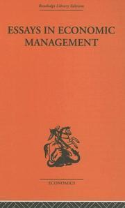 Essays in Economic Management PDF