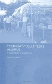 Cover of: Community volunteers in Japan by Lynne Y. Nakano