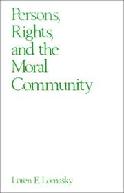 Persons, rights, and the moral community PDF