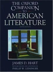 Cover of The Oxford Companion to American Literature