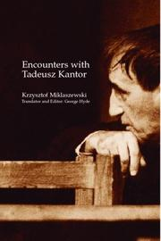Encounters with Tadeusz Kantor PDF