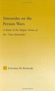 Simonides on the Persian Wars by Lawrence M. Kowerski