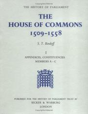 The House of Commons, 1509-1558 by Bindoff, S. T.
