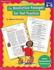 24 Nonfiction Passages for Test Practice by Michael Priestley