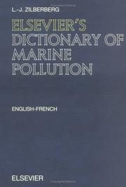 Elsevier's dictionary of marine pollution PDF