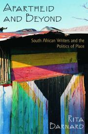 Apartheid and Beyond by Rita Barnard
