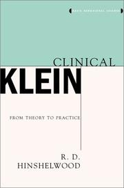 Clinical Klein by R. D. Hinshelwood