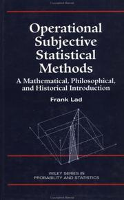 Operational subjective statistical methods PDF