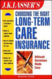 J.K. Lasser's Choosing the Right Long-Term Care Insurance PDF