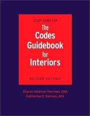 Study guide for the codes guidebook for interiors by Sharon Koomen Harmon