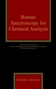 Raman spectroscopy for chemical analysis by Richard L. McCreery