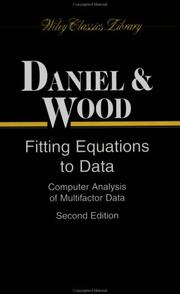 Fitting equations to data by Cuthbert Daniel
