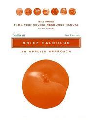 Brief Calculus, Resource Manual PDF