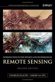 Introduction to the physics and techniques of remote sensing PDF