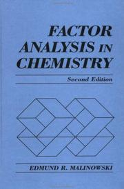 Factor analysis in chemistry PDF