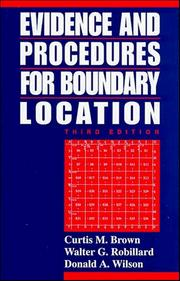 Evidence and procedures for boundary location PDF