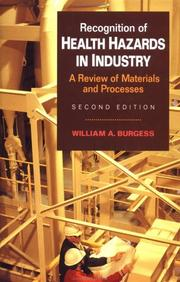 Recognition of health hazards in industry PDF