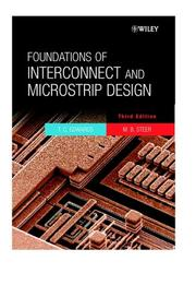 Foundations of interconnect and microstrip design by T. C. Edwards