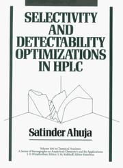 Selectivity and detectability optimizations in HPLC PDF