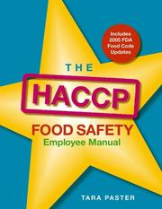 The HACCP food safety employee manual PDF