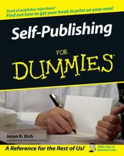 Cover of: Self-Publishing For Dummies by Jason R. Rich