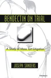 Bendectin on trial by Joseph Sanders