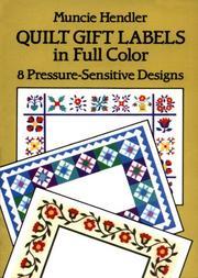 Quilt Gift Labels in Full Color PDF