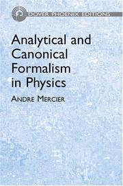 Analytical and canonical formalism in physics (Open Library)