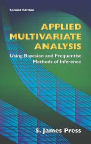 Applied multivariate analysis by S. James Press