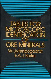 Tables for microscopic identification of ore minerals by W. Uytenbogaardt