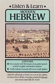 Listen & Learn Modern Hebrew PDF