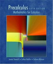 Cover of: Precalculus | James Stewart, Lothar Redlin, Saleem Watson
