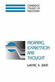Meaning, Expression and Thought (Cambridge Studies in Philosophy) PDF