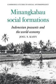 Minangkabau Social Formations by Joel S. Kahn
