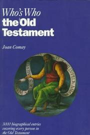 Who's who in the Old Testament by Joan Comay