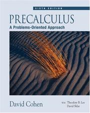 Precalculus by Cohen, David
