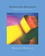 Operations Research; Applications and Algorithms