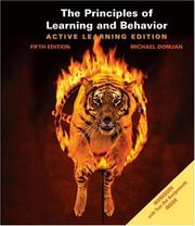 The principles of learning and behavior by Michael Domjan
