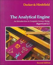 The analytical engine by Rick Decker