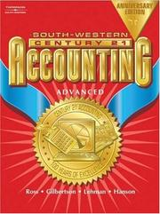Cover of: Century 21 Accounting Anniversary Edition, Advanced Text