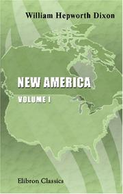 New America by William Hepworth Dixon