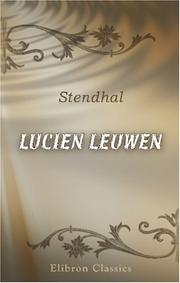 Lucien Leuwen by Stendhal