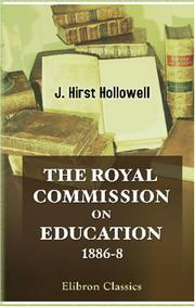The Royal Commission on Education 1886-8 PDF