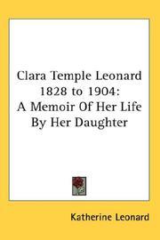 Clara Temple Leonard 1828 to 1904 PDF